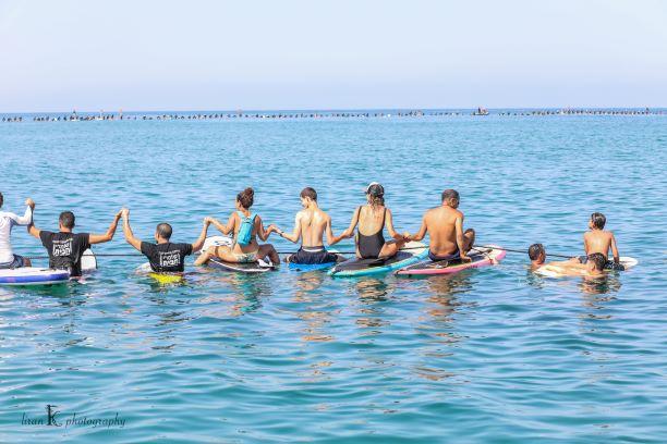 שיא עולם מעגל גולשים להרחקת אסדת לווייתן מחופי ישראל