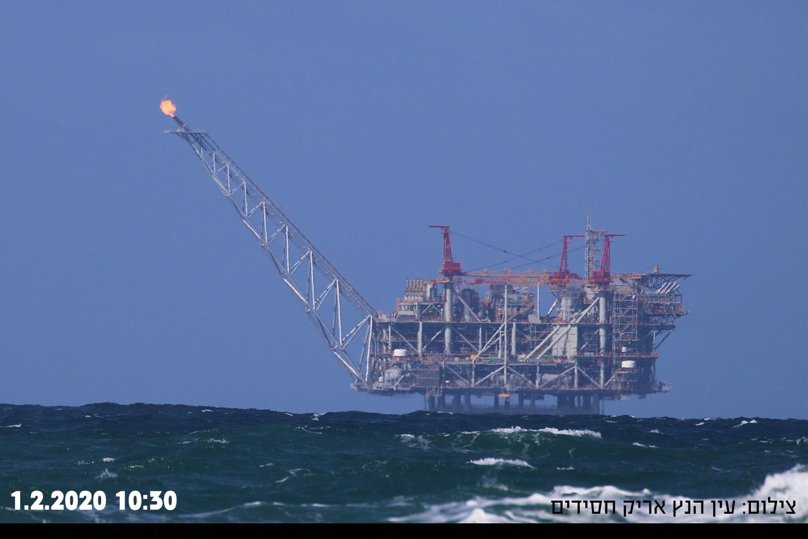 תקלה באסדת לוויתן 01-02-2020