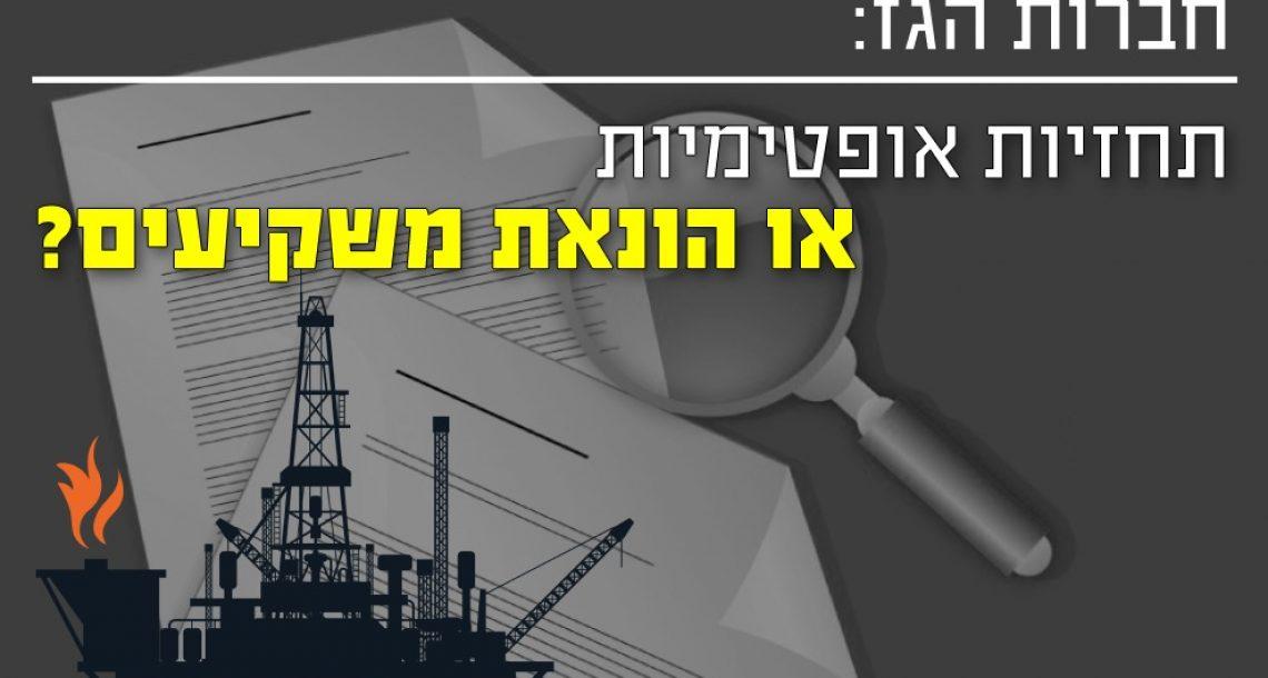 חברות הגז – תחזיות אופטימיות או הונאת משקיעים?