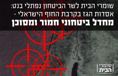 לכבוד שר הביטחון של מדינת ישראל