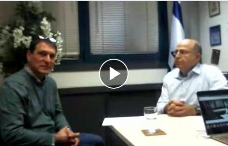 ראיון בשידור חי עם בוגי יעלון בנושא אסדת לוויתן
