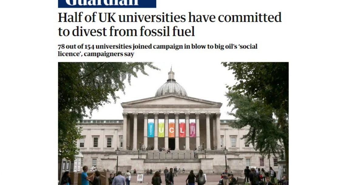 """בעקבות ההתחממות הגלובלית ומשבר האקלים – אוניברסיטאות באנגליה מובילות מדיניות """"אי השקעה"""" בדלקים מאובנים"""